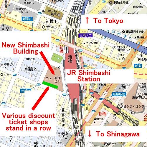 shimbashi station map