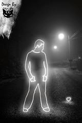 Light at Night (  T_ !  ) Tags: street light man guy love girl night cat design sad heart creative kuwait q8