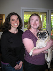 allison and pam with Norman