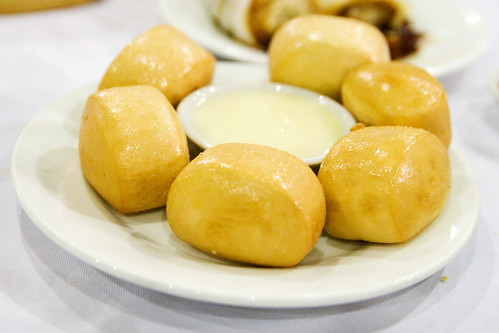 fried mantou and condensed milk