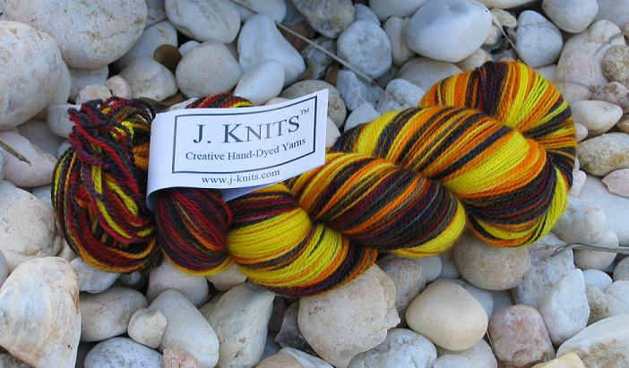 J. Knits Light Sock Yarn, Color: Kansas