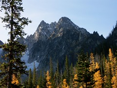 Colchuck Peak and larches