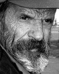 Unfulfilled dreams (victoriafoto*) Tags: old man look hat beard leaving grey pain eyes sad portait homeless budapest dreams sorrow wrinkles begger faraway unfulfilled سكس