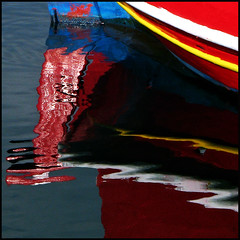 (jesssie) Tags: reflections boat vivid greece fishingboats reflexions chora cyclades naxos blueribbonwinner  aplusphoto colourartaward