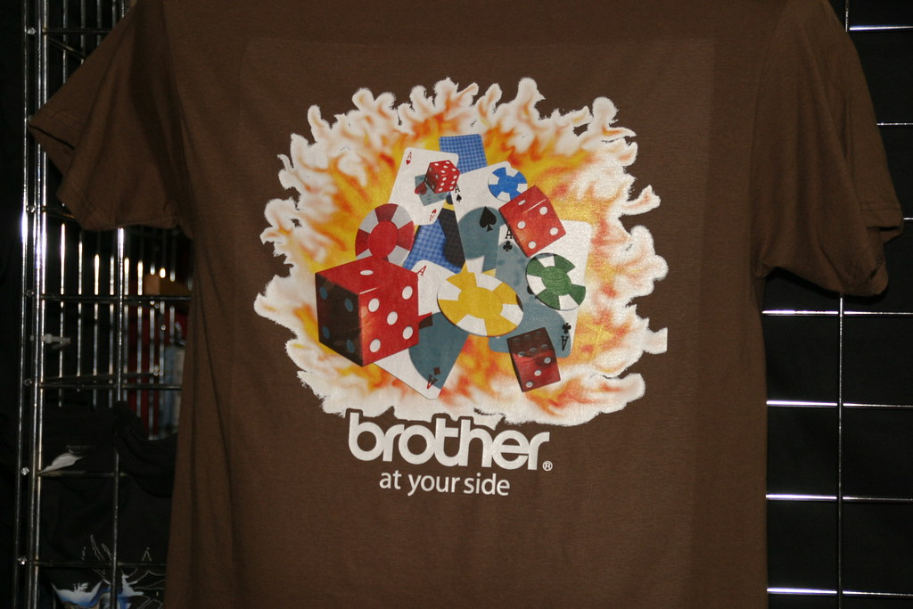 picture of a t-shirt printed by the Brother GT-782
