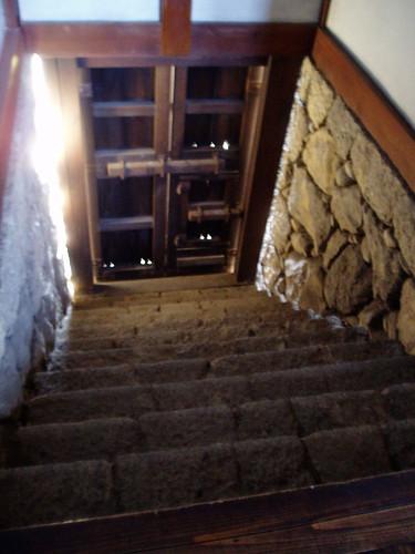你拍攝的 姬路城內階梯。