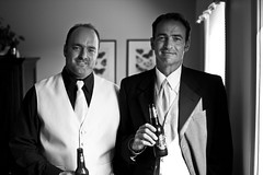 August 8th was a beautiful day (Chris Beauchamp) Tags: wedding bw beer canon brothers groomsmen sigma30mm xti johnandkimmack copyrightchrisbeauchamp20072009