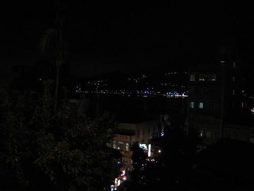 從淡水紅樓看出去的夜景