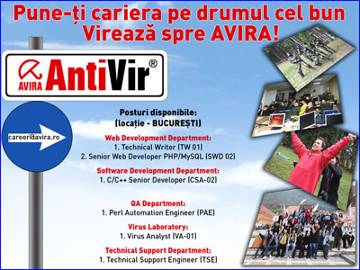 AVIRA e in Romania