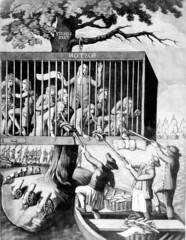 The Bostonians in distress (Marion Doss) Tags: london history boston cartoon american revolutionarywar bennett bostonians mezzotint 1774 sayer