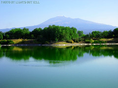 Artificial Lake in Sicily (Lights Out Kill photos) Tags: lake lago sicily etna etnaland