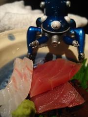 Tachikoma and sashimi
