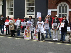 S7301395 (FREE BURMA2008) Tags: london for embassy demonstration jail years leaders 88 receive burmese generation 65 terms