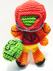 Metroid Themed Crochet Dolls