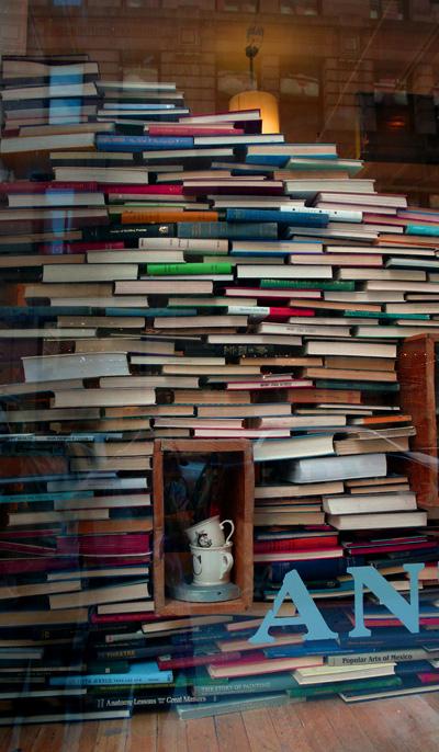 montañas de libros