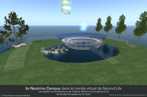 Neutrino Campus Island in Second Life