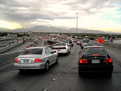 traffic in metro Las Vegas (by: Roadside Pictures, creative commons license)