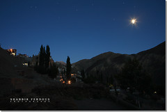 The Moon Shine (Shabbir Ferdous) Tags: blue sky moon india nature night stars photographer shine ladakh bangladeshi travelphotography lamayuru canoneos5d shabbirferdous ef2470mm28lusm wwwshabbirferdouscom shabbirferdouscom