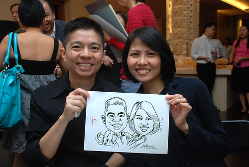 Caricature live sketching for Far East Organisation SPH Media Night The Miro 9
