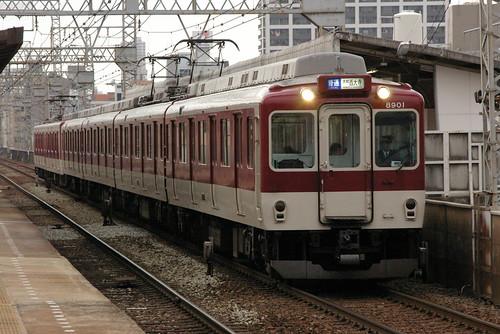 Kintetsu8810series in Imazato,Osaka,Osaka,Japan 2008/11/29