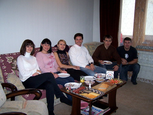 Olya, Edna, Tanya, Serhiy, Andriy, and Greg