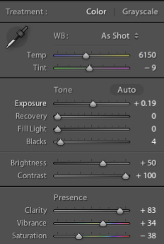 Lightroom Settings 1