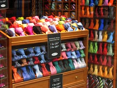 """Colourful"" Ties in London's Mayfair (UGArdener) Tags: england london english fashion ties colorful unitedkingdom britain style picadilly colourful storefronts mayfair windowshopping highfashion windowdisplays bankholidaymonday veryexpensiveties crayonboxgroup englishtravel"