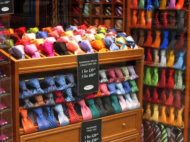 england london english fashion ties colorful unitedkingdom britain style picadilly colourful storefronts mayfair windowshopping highfashion windowdisplays bankholidaymonday veryexpensiveties crayonboxgroup englishtravel