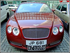 Bentley at the IFC2 Hong Kong (gutierrezcars) Tags: red urban cars car hongkong design asia wheels motor bentley ifc2
