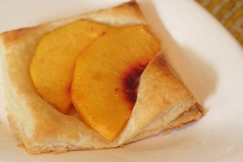 Easy peach pastry