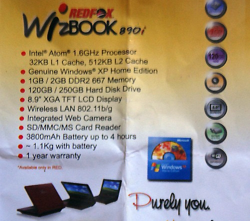 Red Fox WizBook 890i
