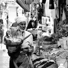 .bazar (Blasq) Tags: street man water nikon tea egypt goods spices aswan trade merchant seller bazar refreshment trader egipt d300