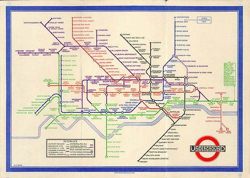 Beck's Original London Tube Map