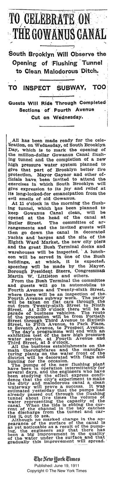 NYT JUNE !9, 1911