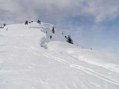Lichtenberg summit - cornice split obvious