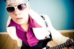 purple haze (yodraws) Tags: portrait guitar dressup shades rocknroll emil havingfun foolingaround fauxfur notdoinghomework presets nykf
