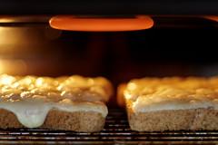 Creamy Lancashire (jenny - blinkclick) Tags: food cheese bread melting jennifer toast jenny bubbles grill element mannion 1403 3662008 wwwjennifermannioncouk