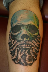 Whiskerino Tattoo  Session 1. Original artwork by Ryan Hale (Ozzy Nelson) Tags: tattoo beard whiskerino