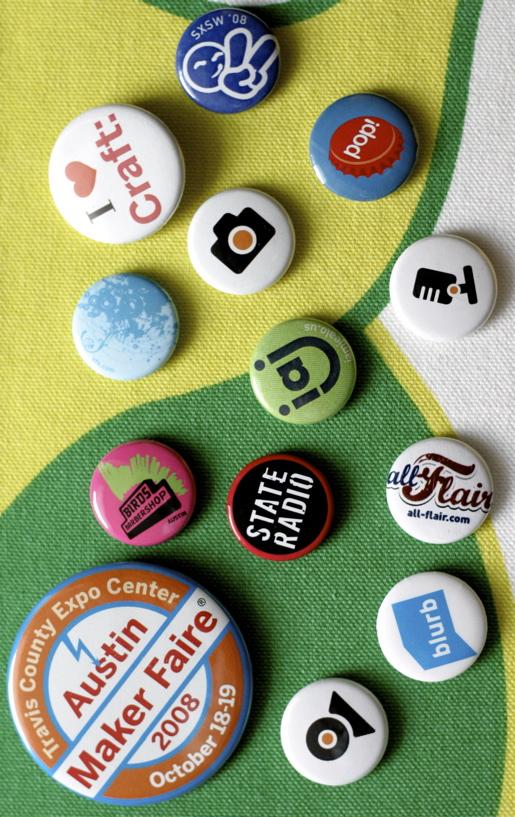 SXSW pins picture