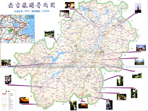 Anji Tourism Map