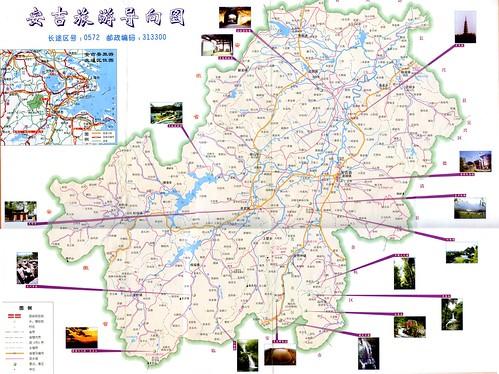 安吉旅游地图