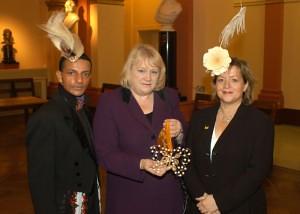 Louis Mariette, Janet Dean MP for Burton and Campaign Director Angie Davidson