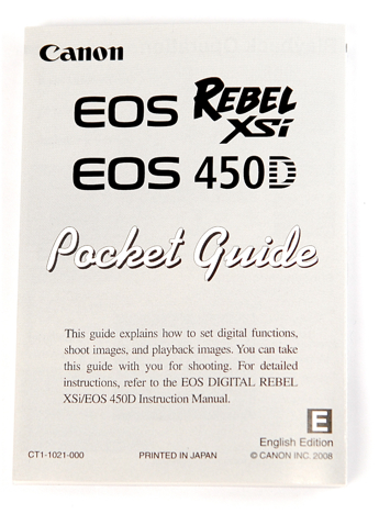 Canon XSi / 450D pocket guide