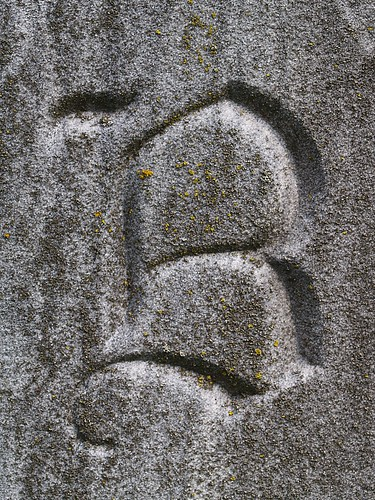 letter b. Headstone Capital Letter quot;Bquot;
