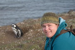 Sarah + Penguin = happy Sarah