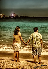 facing the future (Kris Kros) Tags: love photoshop holding hands couple post philippines scene together processing kris romantic to sweethearts challenge 75th entry pinoy pp kkg pagudpud the cs3 kros kriskros kk2k firsttheearth kodakero pkchallenge kkgallery