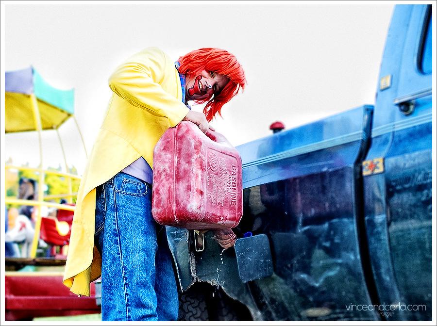 clown carnival birthday party mikaela first birthday carousel gas truck