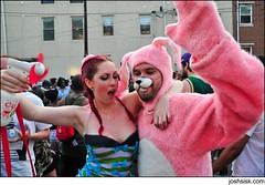 me & friend @ mad decent block party 2008