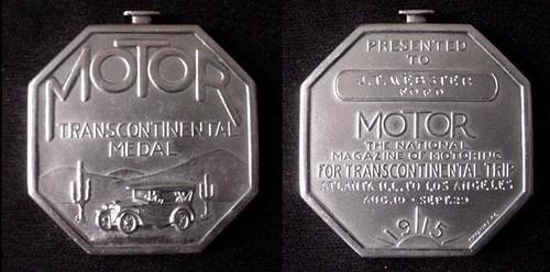 1915-1917 Motor Magazine Transcontinental Medal