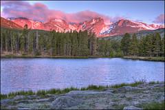 alpenglow (Rich'sPics) Tags: lake mountains landscape colorado rockymountains hdr rockymountainnationalpark alpenglow spraguelake photomatix canon40d